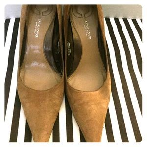 Leather Camel colored pump from Casual Corner